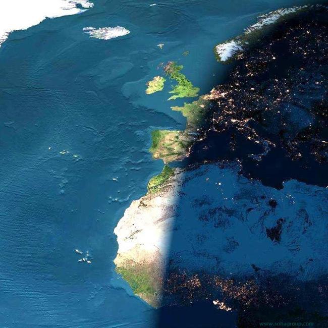 مرز بین روز و شب - تصویر از ناسا