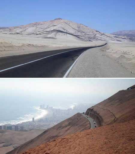روتا 5 : جاده آریکا به Iquique (شیلی)