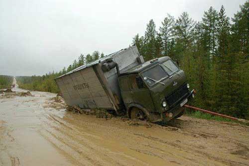 راه سیبری به یاکوتسک (روسیه)