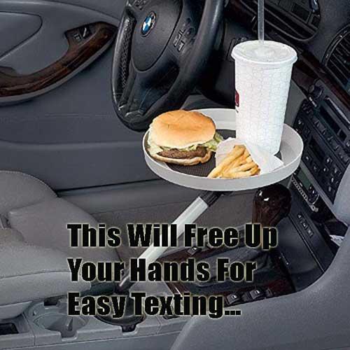 لذت غذا خوردن در ماشین