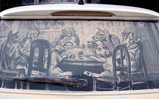 نقاشی روی ماشین کثیف (4)