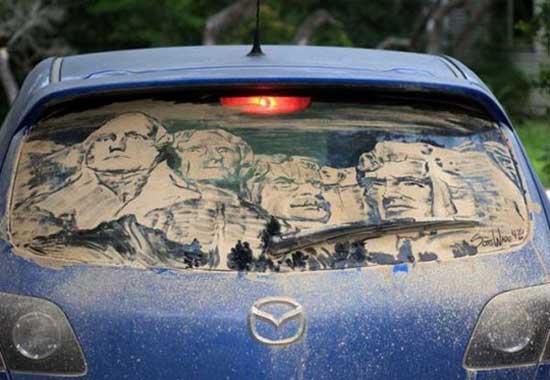 نقاشی روی ماشین کثیف (5)