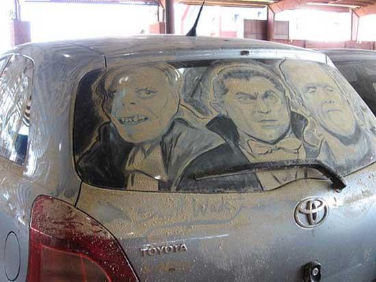 نقاشی روی ماشین کثیف (6)