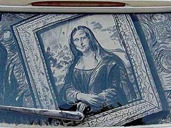 نقاشی روی ماشین کثیف (7)