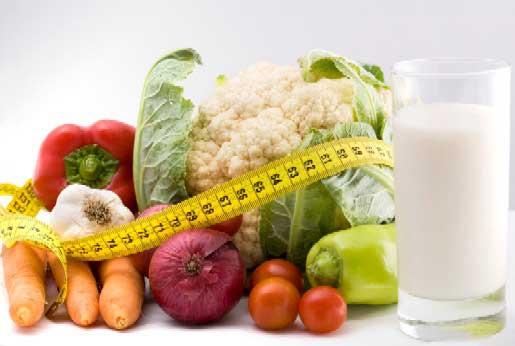 رژیم غذایی سالم و ورزش برای کاهش وزن