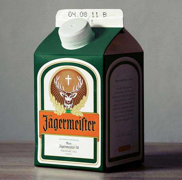 مشروب در ظرف های شیر (2)