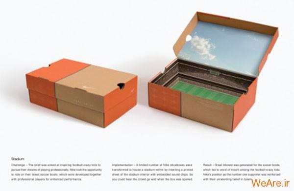 فوتبال- جعبه کفش استادیوم فوتبال نایک (Soccer - Nike Stadium Shoe Box)