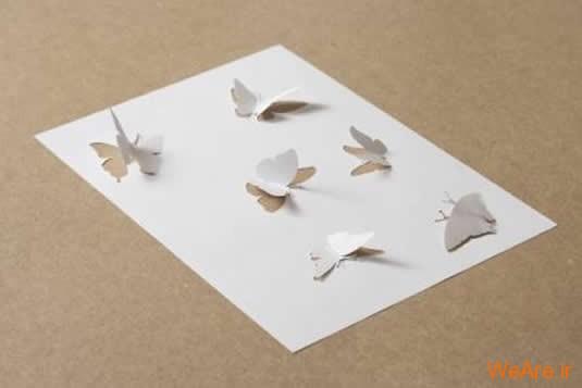 شکل های زیبا تنها با یک برگ کاغذ (1)