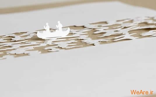 شکل های زیبا تنها با یک برگ کاغذ (16)