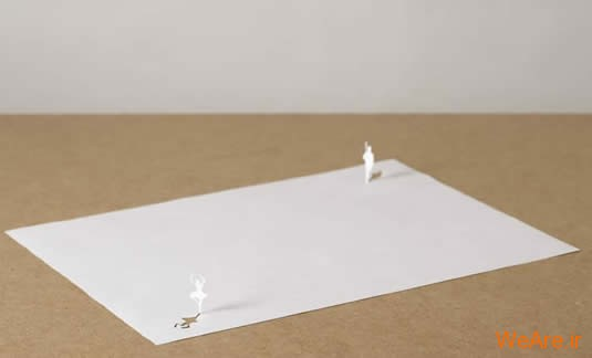 شکل های زیبا تنها با یک برگ کاغذ (2)