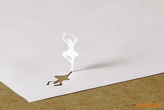 شکل های زیبا تنها با یک برگ کاغذ (3)
