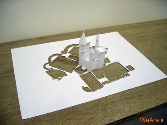 شکل های زیبا تنها با یک برگ کاغذ (8)