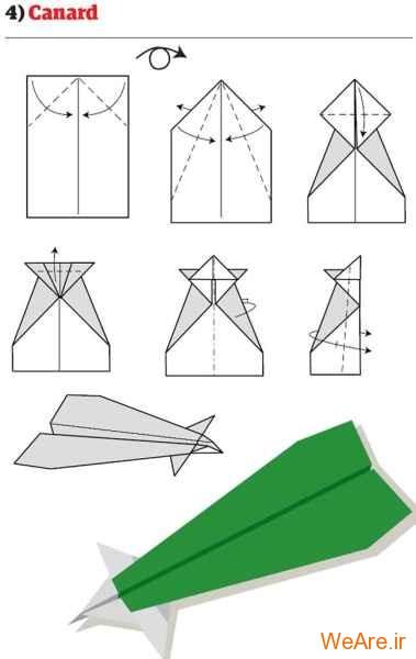 ساخت هواپیمای کاغذی (5)