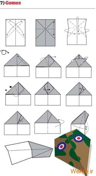ساخت هواپیمای کاغذی (8)