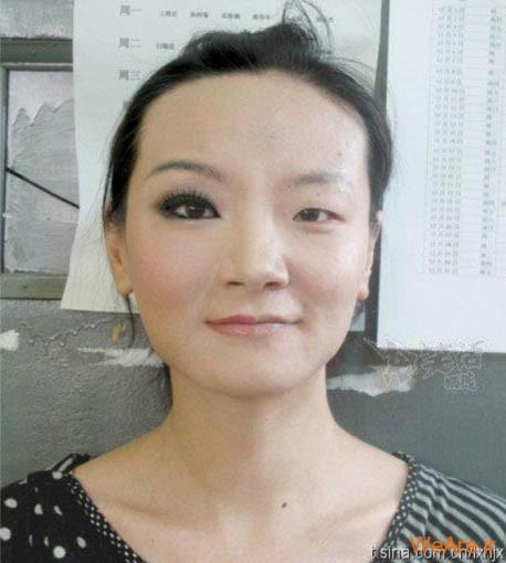 آرایش دختر چینی چشم بادامی
