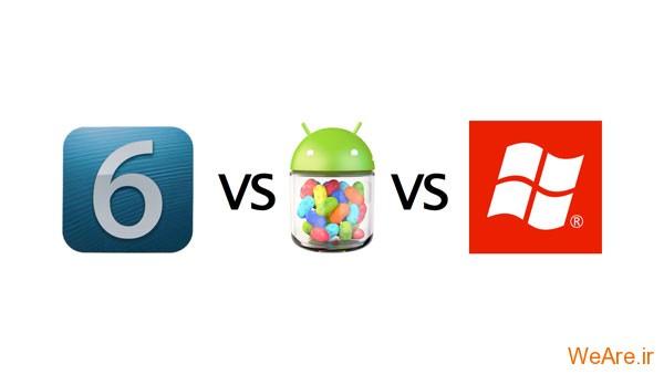 Windows Phone 8، Android 4.1 و iOS 6
