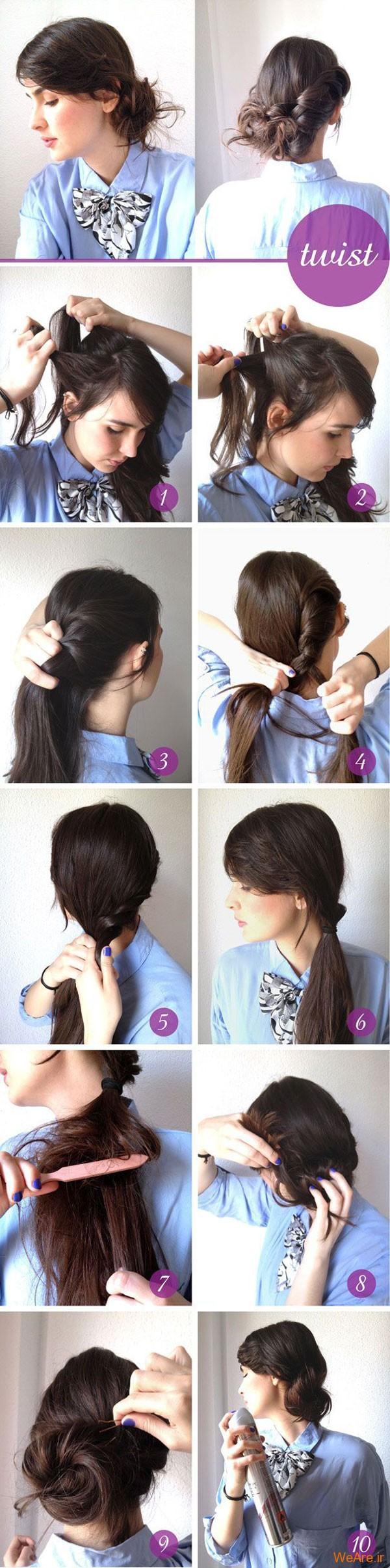 روش های بستن مو (2)