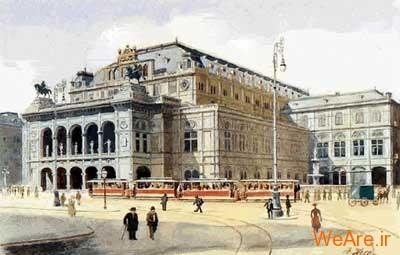 از سری نقاشیهای هیتلر که نشان دهنده اماکنی است که از سراسر اروپا کشیده است