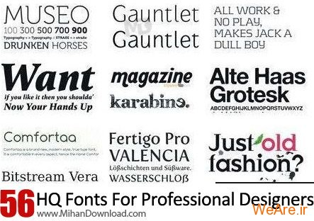 HQ Fonts For Professional Designers