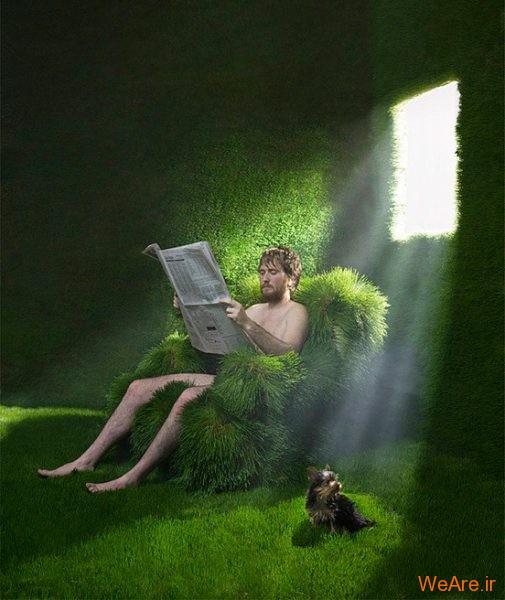 تصاویر خلاقانه، خانه سبز