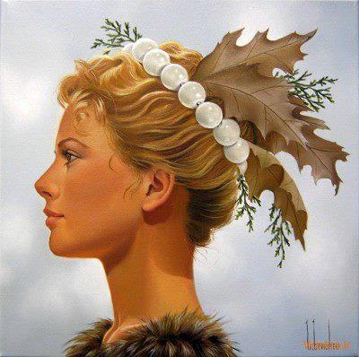 نقاشی های زیبا با موضوعیت چهره زن (7)