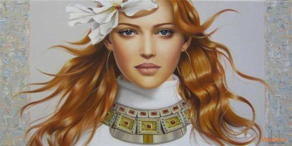 نقاشی های زیبا با موضوعیت چهره زن (8)