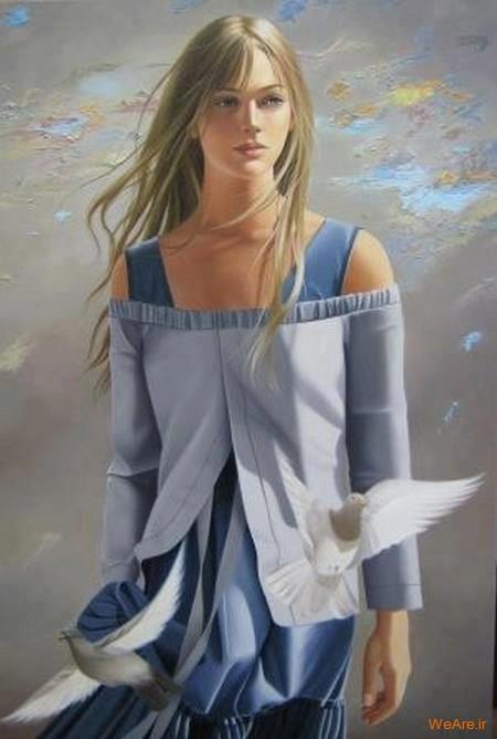 نقاشی های زیبا با موضوعیت چهره زن (9)