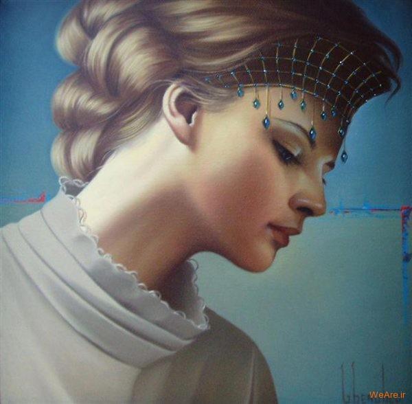 نقاشی های زیبا با موضوعیت چهره زن (10)