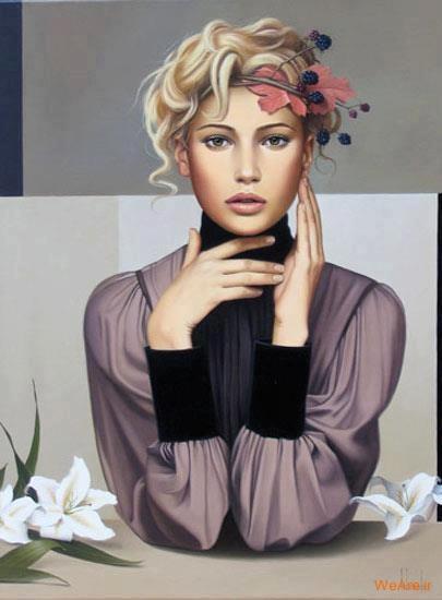 نقاشی های زیبا با موضوعیت چهره زن (11)