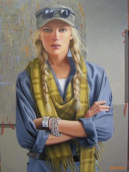 نقاشی های زیبا با موضوعیت چهره زن (12)