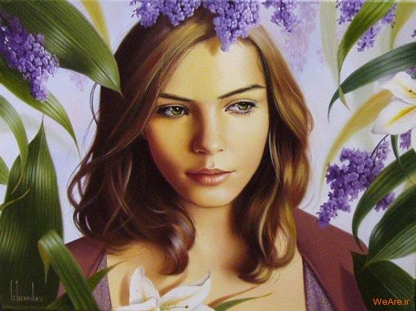 نقاشی های زیبا با موضوعیت چهره زن (13)
