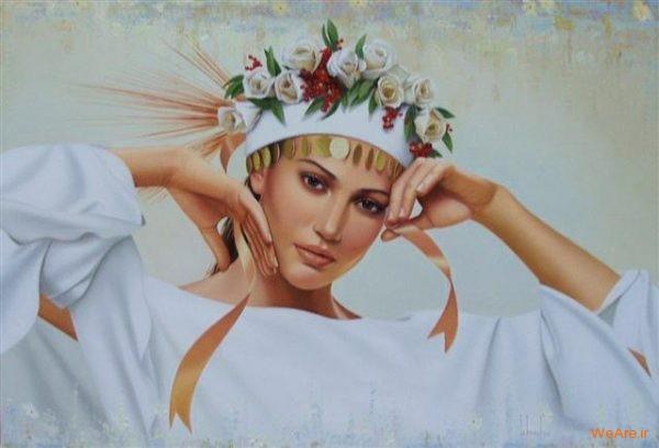 نقاشی های زیبا با موضوعیت چهره زن (14)