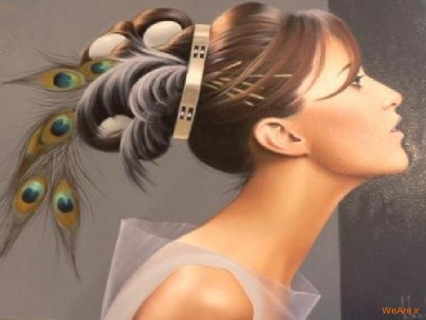 نقاشی های زیبا با موضوعیت چهره زن (15)