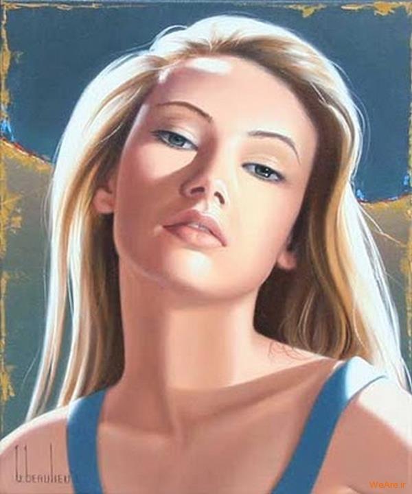 نقاشی های زیبا با موضوعیت چهره زن (16)