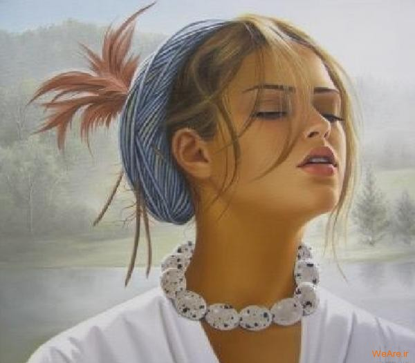 نقاشی های زیبا با موضوعیت چهره زن (18)