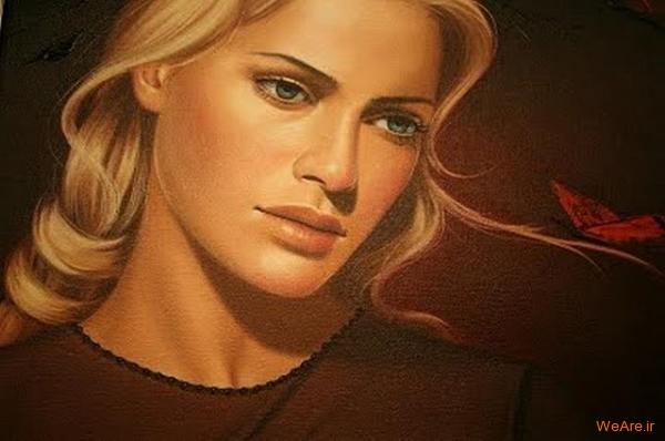 نقاشی های زیبا با موضوعیت چهره زن (19)