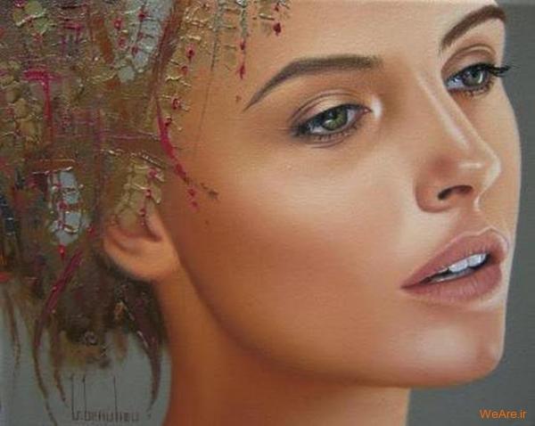 نقاشی های زیبا با موضوعیت چهره زن (21)