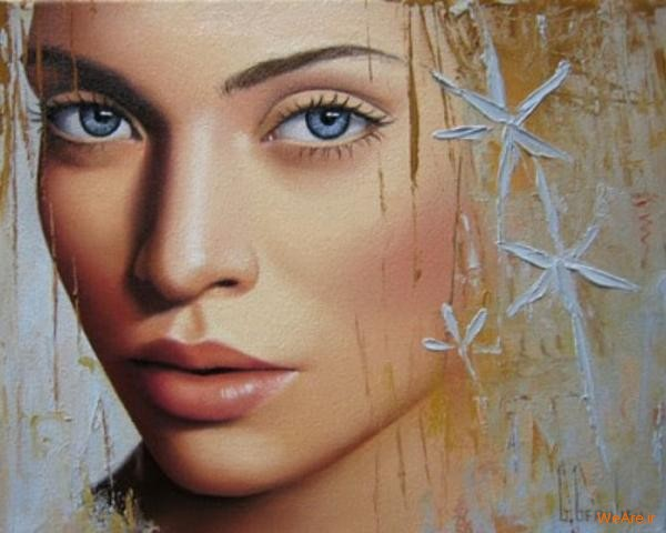 نقاشی های زیبا با موضوعیت چهره زن (23)