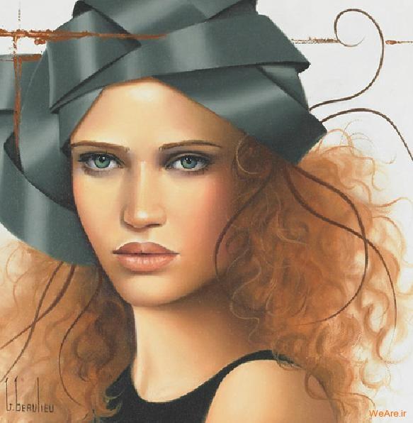نقاشی های زیبا با موضوعیت چهره زن (26)