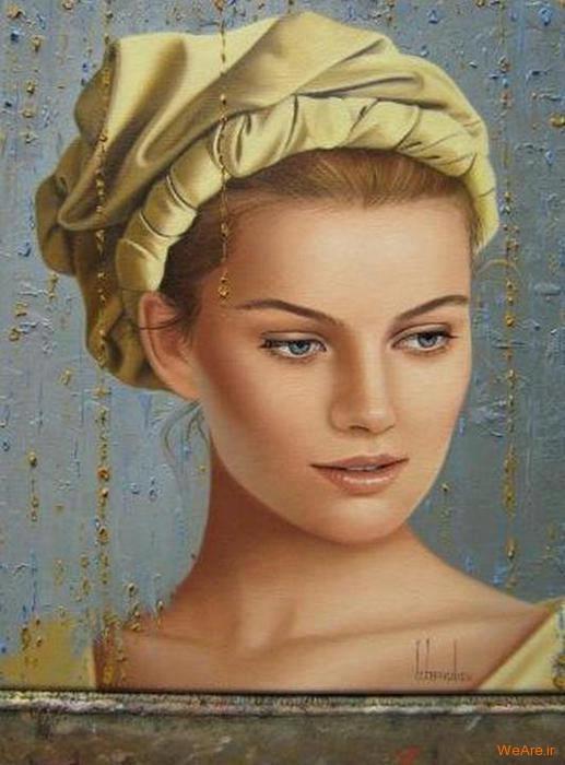 نقاشی های زیبا با موضوعیت چهره زن (2)