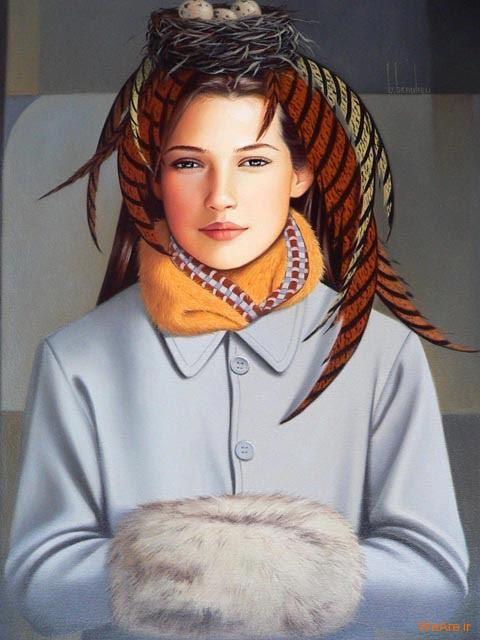 نقاشی های زیبا با موضوعیت چهره زن (3)
