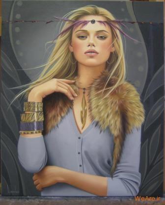 نقاشی های زیبا با موضوعیت چهره زن (4)