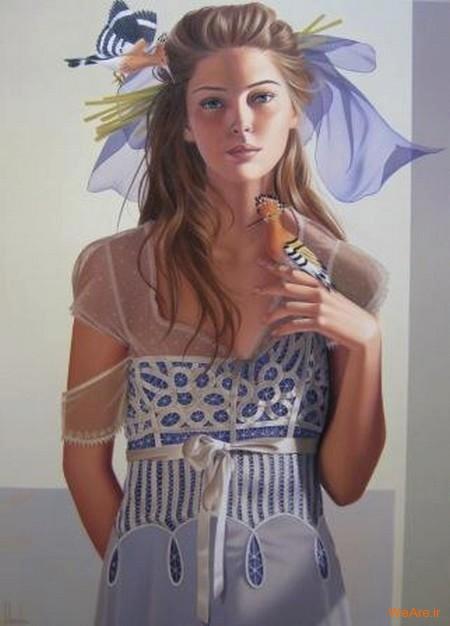 نقاشی های زیبا با موضوعیت چهره زن (5)