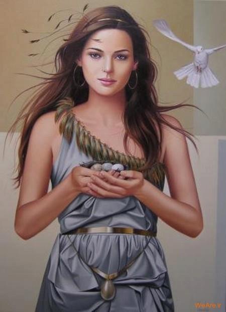 نقاشی های زیبا با موضوعیت چهره زن (6)