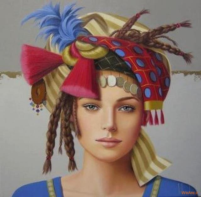 نقاشی های زیبا با موضوعیت چهره زن (1)