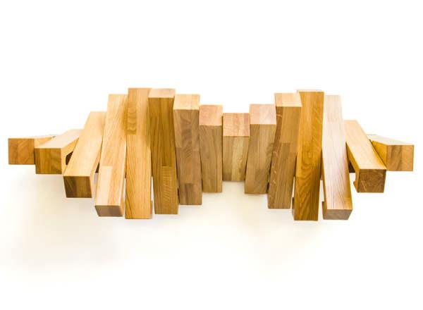 کتابخانه خلاقانه و جالب با چوب (6)