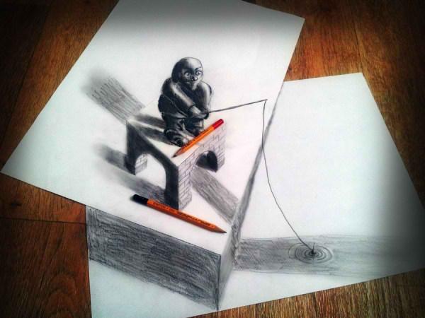 Optical-Illusion-3D-Drawings-on-Paper-by-Ramon-Bruin-aka-JJKAirbrush-25-weare.ir
