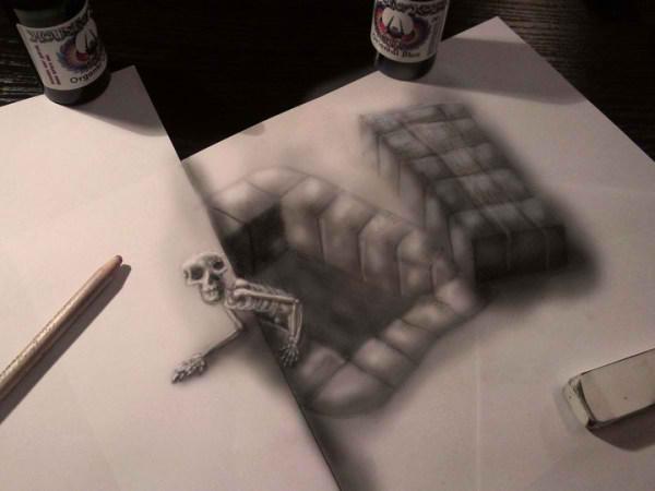 Optical-Illusion-3D-Drawings-on-Paper-by-Ramon-Bruin-aka-JJKAirbrush-31-weare.ir