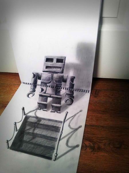 Optical-Illusion-3D-Drawings-on-Paper-by-Ramon-Bruin-aka-JJKAirbrush-34-weare.ir