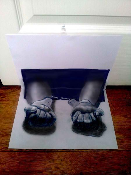 Optical-Illusion-3D-Drawings-on-Paper-by-Ramon-Bruin-aka-JJKAirbrush-37-weare.ir